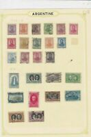 argentina stamps page ref 17113