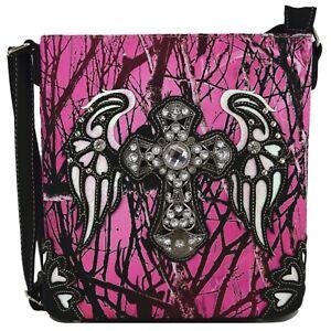 Camouflage Western Cross Body Handbag Concealed Carry Purse Single Shoulder Bag