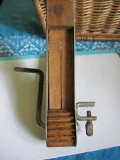 Vintage WOOD crank Tabletop Cherry Pitter  ?????? Kitchen Gadget primitive rusti