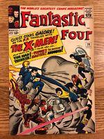 FANTASTIC FOUR #28 (1964) EARLY X-MEN APPEARANCE STAN LEE & JACK KIRBY