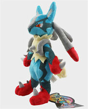 """10""""Cute Pokemon X Y Lucario Kids Toy Soft Plush Stuffed Toy Doll Birthday"""