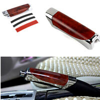 Universal Carbon Fiber Red Wood Hand Brake Protector Decor Cover Car Accessories