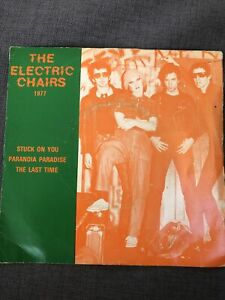 """The Electric Chairs 7"""" EP PS Stuck On You Punk Wayne County EX"""