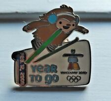 Vancouver 2010 Quatchi 1 Year To Go Olympic Pin