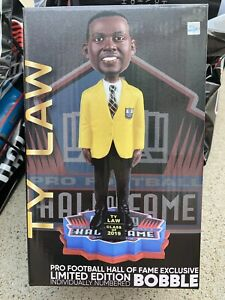 Ty Law NFL Gold Jacket H.O.F. Exclusive Bobblehead #63 Or #92 Of 2019