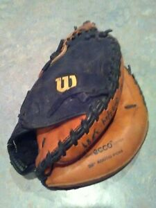 "Wilson Pro 500 AO500 Ecco leather 32"" Catchers Mitt Glove youth baseball"