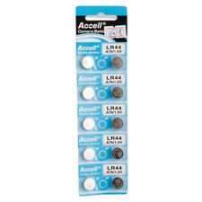 New 10Pcs Lr44 1.5V Button Cell Alkaline Battery Silver for Toy