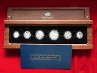 AUSTRALIA.  2009 Fine Silver Proof Set - 6 Coins in Timber Case