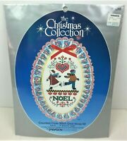 Paragon Christmas Collection NOEL Counted Cross Stitch Oval Hoop Kit 6285 New