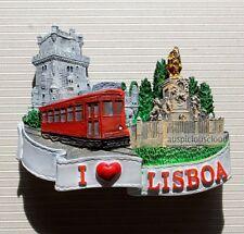 TOURIST SOUVENIR 3D Travel FRIDGE MAGNET ----- Lisbon , Portugal