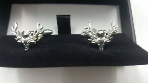 Dalmore Whisky Collectible Stainless Steel Cufflings