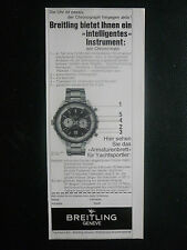 11/1972 PUB MONTRE BREITLING WATCHES SUISSE CHRONO-MATIC ORIGINAL GERMAN AD