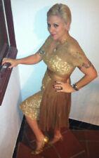 Size Medium Vintage Lace/Silk Chiffon 1950s/60s Wiggle Bombshell Pinup Dress