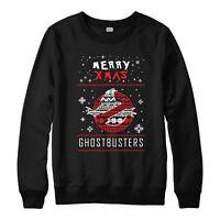 Ghostbusters Christmas Jumper, Merry Xmas Festive Adult & Kids Jumper Top