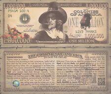 Lot of 25 Thanksgiving Million Dollar Bill Fun Money Gospel Tract Novelty Notes