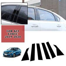 For Kia Forte 2019 2020 6*PC Side Door Window Center Pillar Post Cover Trim
