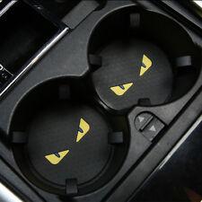 One Set of 2 Monster Car Auto Coaster Cup Mug Pad Mat Bottle Cup-mat Black