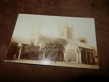 1909 real photographic postcard - Chester cathedral
