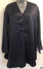 Victoria's Secret De Colección Satén Camisón Púrpura Oscuro/Camisa Top Lencería mediano/grande