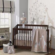 Lambs & Ivy 5 Piece Baby Nursery Crib Bedding Set Elias w/ Bumper & Mobile NEW