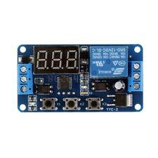 SCHEDA TEMPORIZZATORE TIMER PROGRAMMABILE 12V CON 1 RELE 4 FUNZIONI LCD 0-999MIN