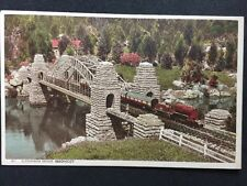 Vintage RPPC: Bucks: #T3: Alexandra Bridge, Bekonscot: Model Train