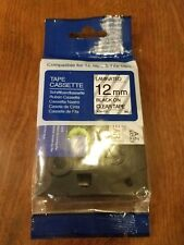TZ131 12mm Black on Clear TZe131 Label Tape Generic for Brother P-touch 1/2''