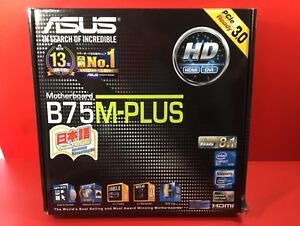 New ASUSTeK Intel B75 equipped motherboard LGA 1155 correspondence B75M-PLUS F/S