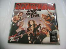 SCORPIONS - WORLD WIDE LIVE - 2LP REISSUE VINYL 180 GRAM 2015 - NEW SEALED 50TH