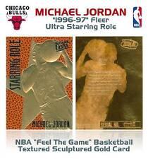 MICHAEL JORDAN 1996-97 Fleer Ultra Starring Role FEEL THE GAME Gold Card *BOGO*