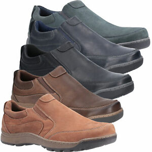 Mens Hush Puppies Jasper Casual Slip On Smart Leather Shoes Sizes 6 to 15