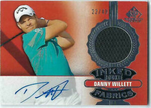 DANNY WILLETT 2021 UD SP GAME USED GOLF 22/49 AUTO SHIRT