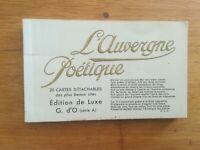 CPA - Carnet 20 cartes - Auvergne poétique - Edition de luxe série A - G d'O