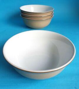 Vintage Denby 'Viceroy' 17cm Bowls x 4, Designed in 1991