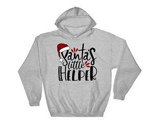 Santa's Little Helper Christmas Hoodie Cool Gift Sweatshirt Jumper Pullover V121