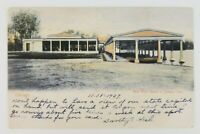 Postcard New Boat House in Jackson Park Chicago Illinois 1907