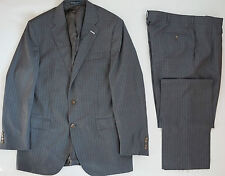 $1595 POLO RALPH LAUREN Gray Pinstripe 100% Extrafine Virgin Wool Suit 44L W-38