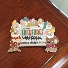 "D23 Treasures of Walt Disney Archives Chicago Seven Dwarfs Magnet - 2"" x 2.25"""