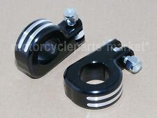 "1 1/4"" Clamp Edge Cut Foot Peg Mount Kit For Harley Davidson Engine Bar Highway"