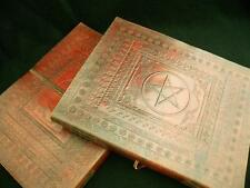 WICCA  Handmade Large Leather Altar Book  Grimoire  Book-of-Shadows - PENTACLE