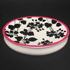 Steve Madden Juliet Soap Dish Black White Pink Floral Bathroom Accessory