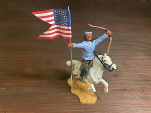 """Timpo Apache Indian Warrior Mounted - """"Cavalry Colours"""" - Conversion - Wild West"""