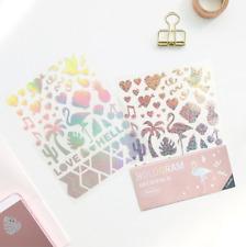 Hologram Point Unicorn Flamingo 4 Sheets Sticker Diary Planner Book Gift Decor