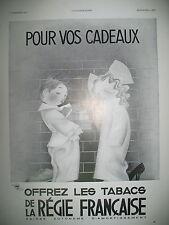 PUBLICITE DE PRESSE CIGARETTES REGIE FRANCAISE POUR VOS CADEAUX 1935
