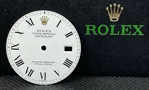 Rolex Datejust 36mm Buckley Yellow Gold Crown White Dial Roman Numerals 16013