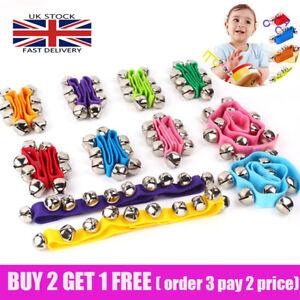 UK Baby Kids Wrist Rattle Bell Ankle Rattle Sensory Toys Jingle Educational Toy