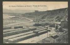 Spain Postcard Gijon Carretera Al Musel Y Minas Station Train