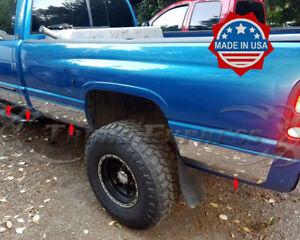 "fit:1998-2001 Dodge Ram 4 Door Extended/Quad Cab Long Bed Rocker Panel Trim 8.5"""