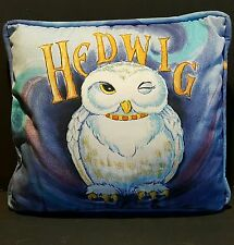 Harry Potter NORBERT Dragon HEDWIG Owl Throw Pillow TWO-SIDED Plush 16x16