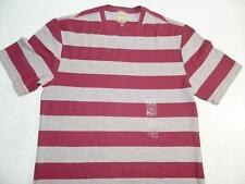 Club Room Men's Burgundy Short Sleeve Shirt Cotton NWT Size S TS2114